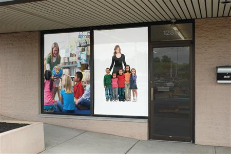 Graphic roller shades can help promote your business