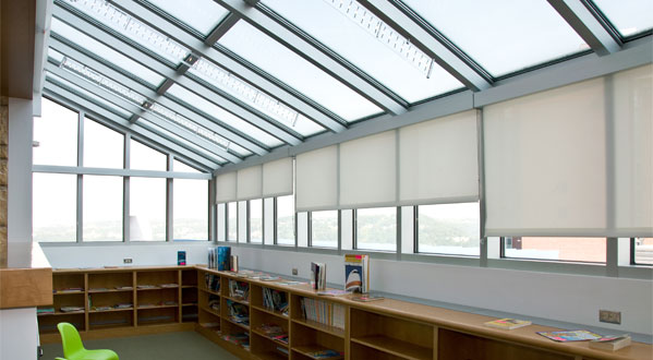 School Shades Work To Keep Library Temperatures Comfortable Without Sacrificing Natural Light